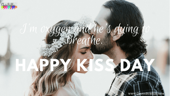 Ultimate collection of Happy Kiss Day Quotes In English. Also Find For Wishes, Status, Messages (SMS), Greetings & Images