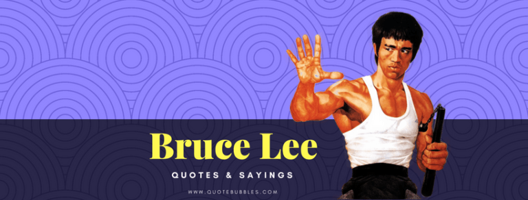 Bruce Lee Quotes And Sayings – QuoteBubbles